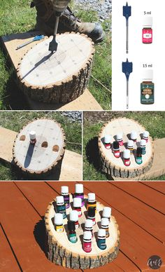 Woodworking Joinery Watches DIY Wooden Rustic Essential Oil Holder - Abundance of Everything.Woodworking Joinery Watches DIY Wooden Rustic Essential Oil Holder - Abundance of Everything Essential Oil Holder, Essential Oil Storage, Anxiety Essential Oil Blend, Essential Oil Blends, Young Living Oils, Young Living Essential Oils, Wooden Diy, Decoration, Diys