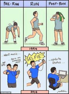Running, 1994 en now.