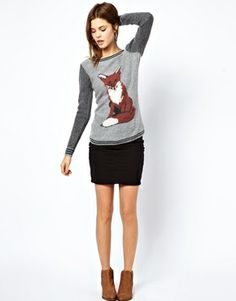Ugh, NEED a fox sweater this fall!