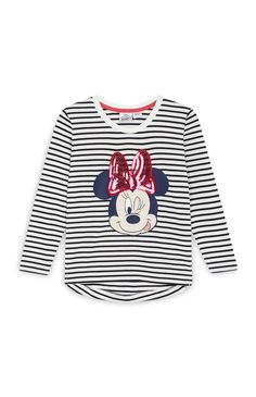 Primark - Minnie Mouse Stripe Top