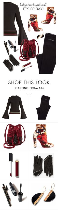 """""""Did you hear?  It's Friday!"""" by juliehooper ❤ liked on Polyvore featuring Roksanda, Steve Madden, Christian Louboutin, Chanel and Alexander McQueen"""