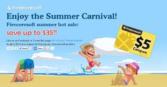 Enjoy the Summer Carnival! Wow~ Firecoresoft is now on big discount! Shop now on Firecoresoft, you can save money up to $35! Besides, Like us on Facebook or Tweet this page @3 of your Tweet friends to get a $5 extra coupon for buying any Firecoresoft product. http://www.firecoresoft.com/promotion/summer-carnival.html
