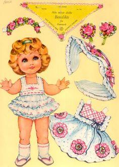 Ingrid Molzen. PDsamler. Online Interest Group on paper dolls Benedikte of Denmark. Series of 8 different countries
