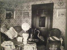 Original Antique 1880s Victorian Interior Parlor Photograph