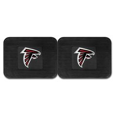 """The Atlanta Falcons Backseat Car Utility Mats.  This 2 Pack set features the Falcons logo centered in each 14""""x17"""" automotive floor mat."""