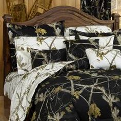 camo bedding...for the trailer!!