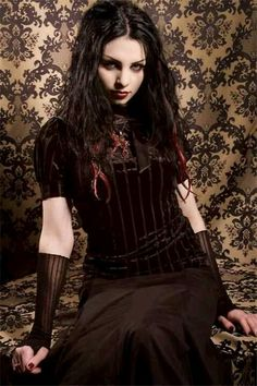 @PinFantasy - #Gothic girl in neo-Victorian dress - ✯ http://www.pinterest.com/PinFantasy/lifestyles-~-gothic-fashion-and-fantasy/