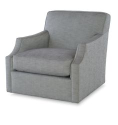 Highland House Upholstery1373SW - Baxter Swivel ChairW: 33.50 in D: 37.50 in H: 33 in