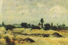 Пейзаж в Аньер (1879 г.). Chittussi Antonín