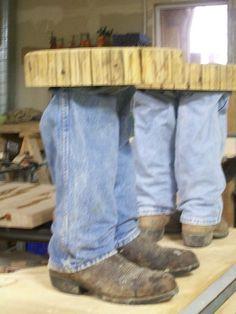 Scary Cowboy Boot Table! lynmcdermott