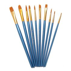 10 pcs Multifunction Nylon Brush Various Size Artist Painting Brushes Gouache, Nylons, Eye Makeup Brushes, Makeup Brush Set, Hair Brush, Makeup Tools, Acrylic Brushes, Paint Brushes, Artist Brush