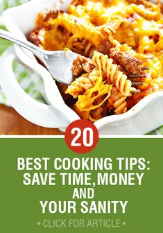 Check out our 20 Best Cooking Tips to Save Time, Money and Your Sanity and see how you can make sure your family gets nutritious and delicious meals every day of the week.