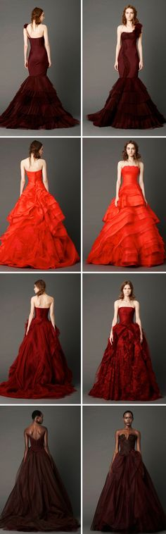 Red alert. Our favorite Vera Wang gowns from the Spring 2013 Bridal Market.