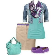 Love the purple and turquoise