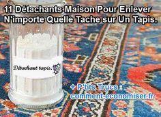 Vous avez fait une grosse tache sur votre tapis ou moquette ? Pas de panique et pas besoin d'acheter un produit spécial chimique !  Découvrez l'astuce ici : http://www.comment-economiser.fr/comment-enlever-tache-sur-tapis-naturellement.html?utm_content=bufferdee67&utm_medium=social&utm_source=pinterest.com&utm_campaign=buffer