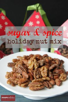 Sugar & Spice Nut Mix –This delicious nut recipe can be made with just the spices in your pantry. Box them up nicely and give them to your friends as gifts!