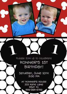 Custom Mickey Mouse Printable Party Invitation by cohenlane, $10.00