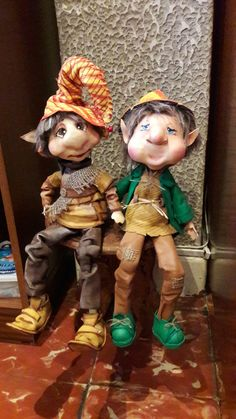 Faeries, Troll, Puppets, Biscuit, Sculpting, Christmas, Fictional Characters, Witches, Fabric Dolls