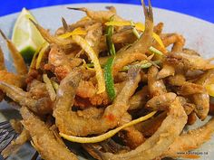 Atherina...Fried Small Smelt or White Bait.......