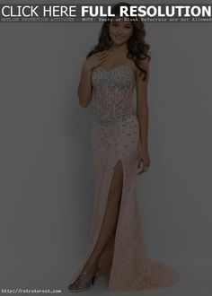 mind-blowing 2015 Corset Style Beaded Lace Side Slit Coral Pink Nude Prom Dress | Blush 9933 Coral Pink Nude by Klopaul in Retroterest. Read more: http://retroterest.com/pin/2015-corset-style-beaded-lace-side-slit-coral-pink-nude-prom-dress-blush-9933-coral-pink-nude/