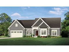 Floor Plan AFLFPW77424 is a beautiful 2006 square foot  Ranch  home design with 2 Garage Bays