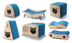 RonRon is a Brazilian company that's redefining style for the modern cat. Check out this huge collection of modern cat furniture including beds, hideaways, scratchers, cat trees, and wall climbing systems. There are several styles of perches and hideaways Cat Box Furniture, Modern Cat Furniture, Furniture Design, Furniture Buyers, Futuristic Furniture, Plywood Furniture, Litter Box Covers, Cat Playground, Cat Scratcher