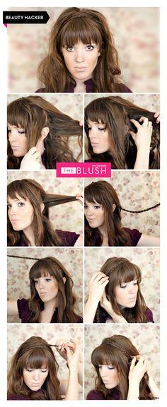 Hair tutorial! How to DIY a braided headband www.theblush.com