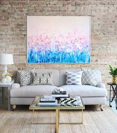 Abstract Canvas Print, Abstract Flower ,Giclee Print , Fine art Print , Modern Art ,  Contemporary flowers , Abstract Art Print ,  Pink blue by Artzaro on Etsy https://www.etsy.com/listing/223846892/abstract-canvas-print-abstract-flower