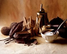 Chocolate, Cream, Cinnamon Art Print by Cabannes & Ryman Love Chocolate, Chocolate Hazelnut, Chocolate Cream, Chocolate Desserts, Traditional Mexican Food, Paleo, Mexican Kitchens, Brownie Cake, Cake Brownies