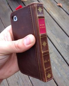 IPhone 5 5s BOOK WORM Leather book wallet case. Camera opening! by JTBCO.