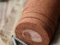 ココアのふわふわ♡チョコロールケーキ♡の画像
