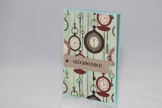 """Glückwunschkarten - Geburtstagskarte """"Uhren"""" - ein Designerstück von Aelidan bei DaWanda"""
