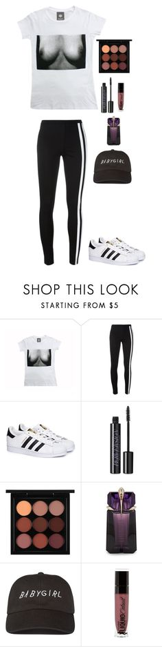 """Untitled #224"" by what-a-catch-donnie ❤ liked on Polyvore featuring Y-3, adidas, Urban Decay, MAC Cosmetics, Thierry Mugler and Wet n Wild"