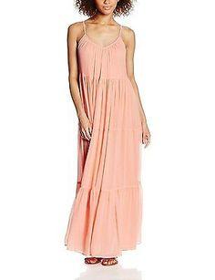 L (Manufacturer size: S), Orange (Desert Flower), VILA CLOTHES Women's Vibotanic