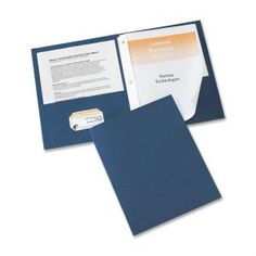 Avery Two Pocket Folder With Fastener | Discount Office Items