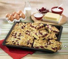 Kirsch-Streuselkuchen vom Blech Rezept | German Cherry Streusel Cake