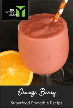 Orange Berry Superfood Smoothie Recipe! Very healthy recipe that kids love. Contains over 11 different superfoods in the Ancient Berry Superfood Mix we are using. Click on the image for the recipe. #mnasmoothie