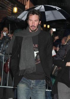 Keanu attended the Late Show with David Letterman in New York on December 10, 2008