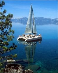 Woodwind II Sailboat Lake Tahoe (Particularly fond of this one as I was married on this boat. Lake Tahoe Vacation, Sailboat, Sailing, Cruise, Adventure, Boating, Water, Places, Photos