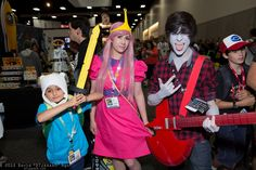 Finn, Princess Bubblegum, and Marshall Lee   SDCC 2013