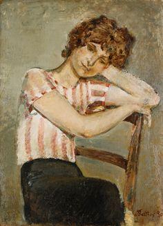 La Blouse Rayee Rose (Pink Striped Blouse), Balthus 1930