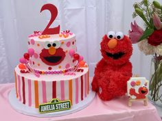 Elmo's Girly birthday party