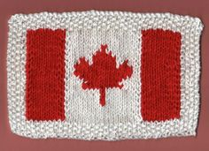 e66f762bc12 Canadian Flag Dishcloth (Free Pattern) Dishcloth Knitting Patterns, Knit  Dishcloth, Loom Knitting