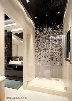Просторная ванная комната - трехкомнатная квартира в ЖК Парадный квартал