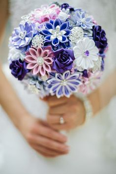 Wedding Bouquet Brooch bouquet Pale lilac Violet Pink and от LIKKO