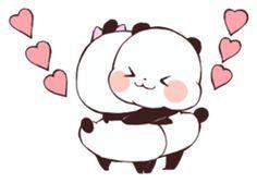 Love Love Yururinpanda by mya Panda Drawing, Cute Cat Drawing, Panda Wallpapers, Cute Wallpapers, Kawaii Drawings, Easy Drawings, Panda Kawaii, Panda Lindo, Chibi Cat