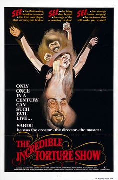 The Incredible Torture Show. One sheet poster.