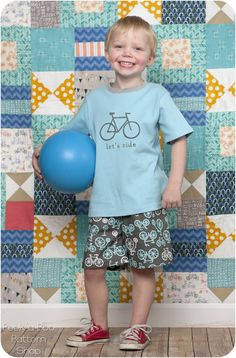 Free Shorts and T-Shirt Pattern for Toddlers! #PeekabooPatternShop
