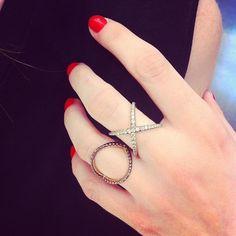 Karleigh Frank: rose gold/black brown diamonds #colette