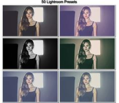 50 Premium Lightroom Presets by Bharat Mudgal, via Behance